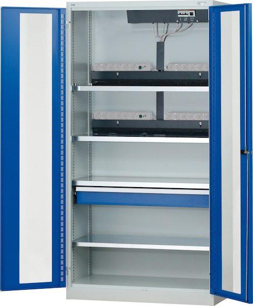 Armario de cargador de bater a con puertas plegables transparentes herramientas industriales - Armarios puertas plegables ...