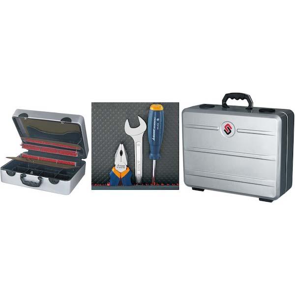 Maleta para herramientas de aluminio con cubeta de fondo y 3 bandejas  portaherramientas c605b2975554
